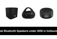 Best Bluetooth Speakers under 2000 in India