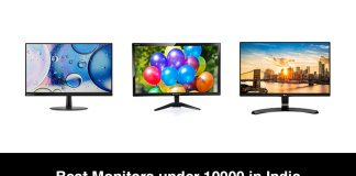 Best Monitors under 10000 in India