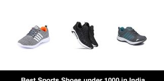 Best Sports Shoes under 1000 in India