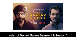 Index of Sacred Games Season 1 & Season 2 (Review, Cast & Episodes)