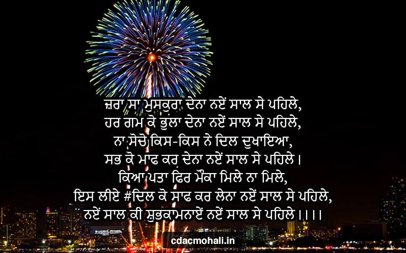 Happy New Year Messages in Punjabi